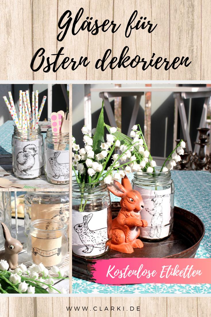 Gläser für Ostern dekorieren