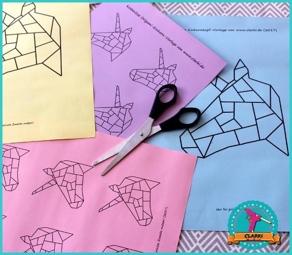 diy einhorn cover f r ordner hefter mappen und co im origami design clarki. Black Bedroom Furniture Sets. Home Design Ideas