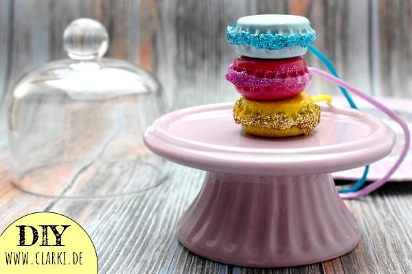 Macaron Anhänger aus Kronkorken einfach selber machen