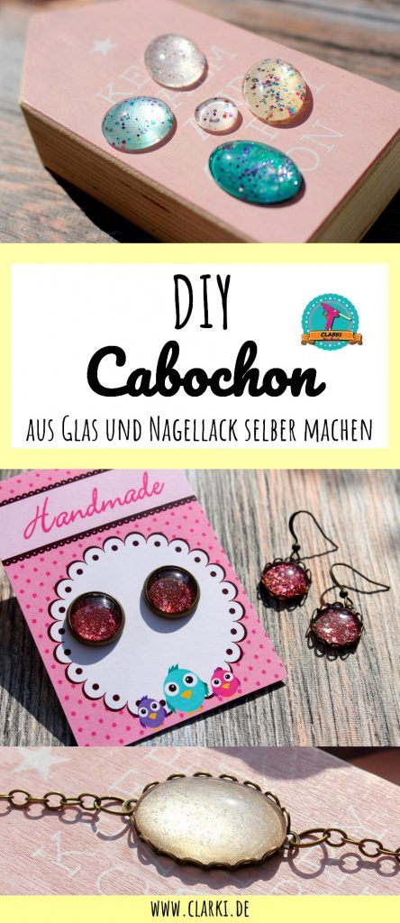cabochon diy schmucksteine aus glas und nagellack selber. Black Bedroom Furniture Sets. Home Design Ideas