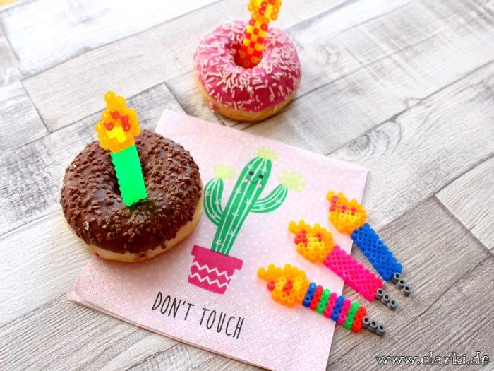 b gelperlen kerzen als spie e f r donuts kuchen muffins und co clarki. Black Bedroom Furniture Sets. Home Design Ideas