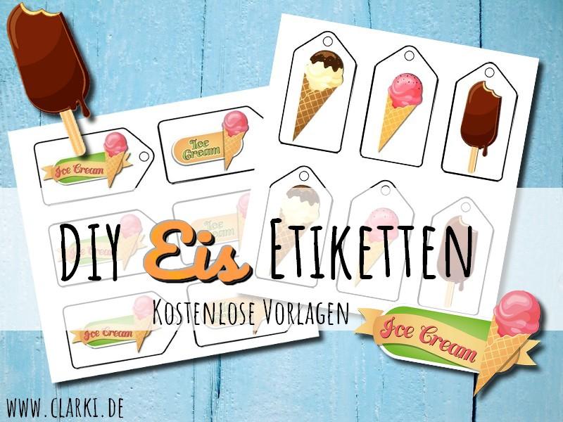 DIY Print: Eis Anhänger und Etiketten als kostenloser Download