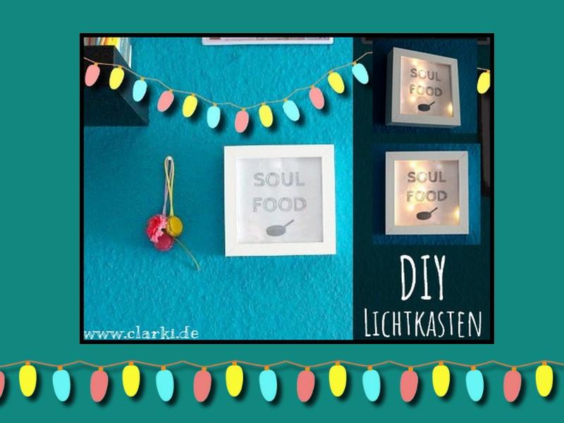 DIY Lichtkasten mit Schrift und Bild als Wandbild