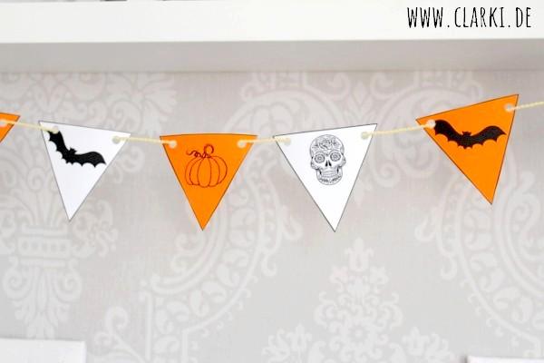 DIY Deko: Halloween Girlande als Deko + kostenloser Download – clarki