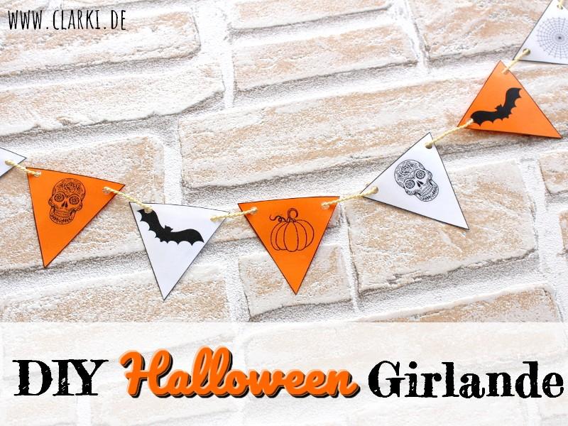 DIY Deko: Halloween Girlande als Deko + kostenloser Download