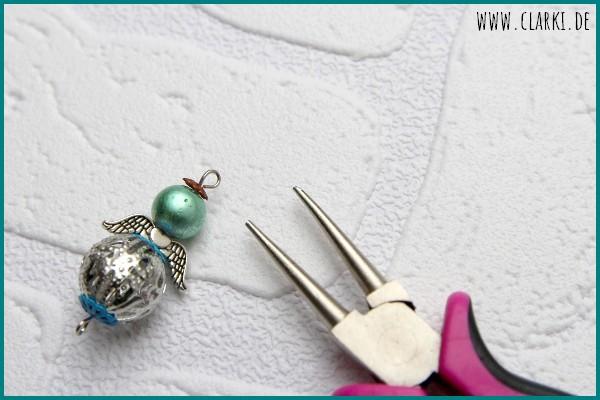Schutzengel Anhänger aus Perlen einfach selber machen