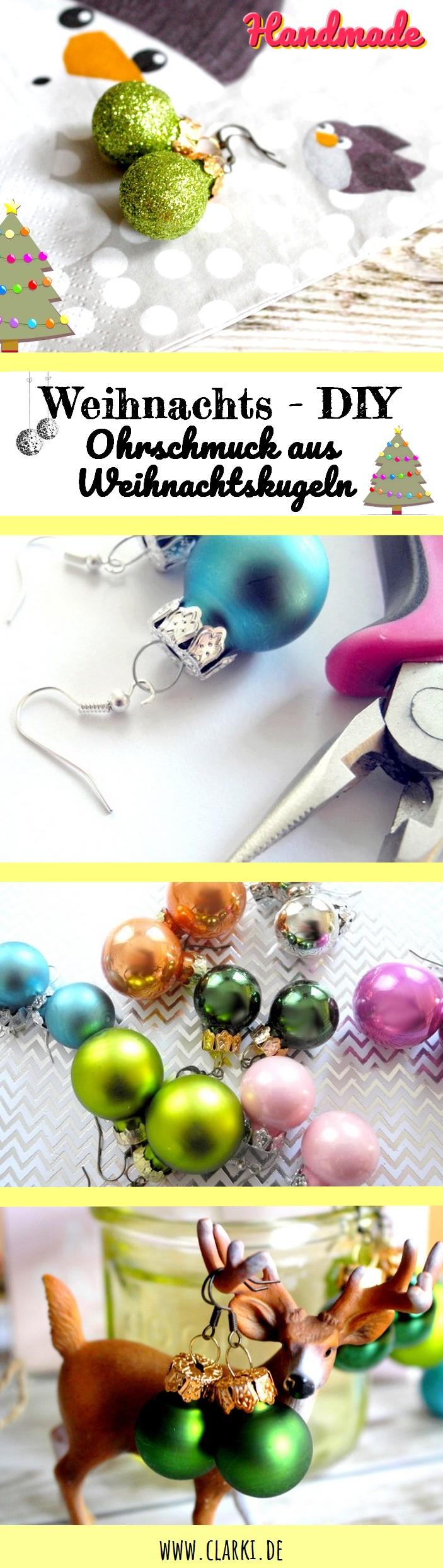 Ohrringe aus Weihnachtskugeln basteln