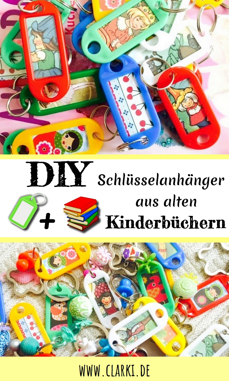 Upcycling Schlüsselanhänger aus alten Kinderbüchern