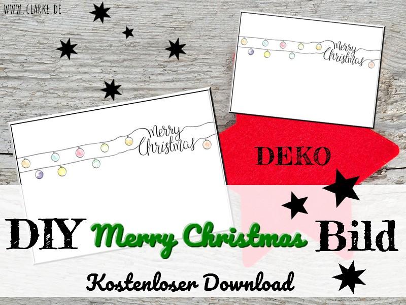 DIY Poster Merry Christmas Minimalist Kostenloser Download – clarki