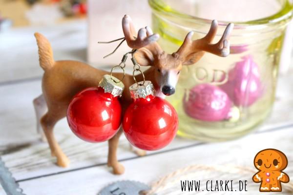 Schmuck Diy Ohrringe Aus Weihnachtskugeln Clarki De Diy Food