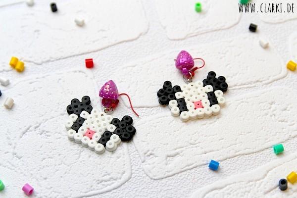 Schmuck DIY: Süße Panda Ohrringe aus Bügelperlen