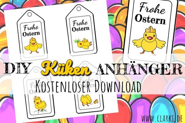 Kostenlose Geschenkeanhänger zu Ostern: Süße Küken-Anhänger