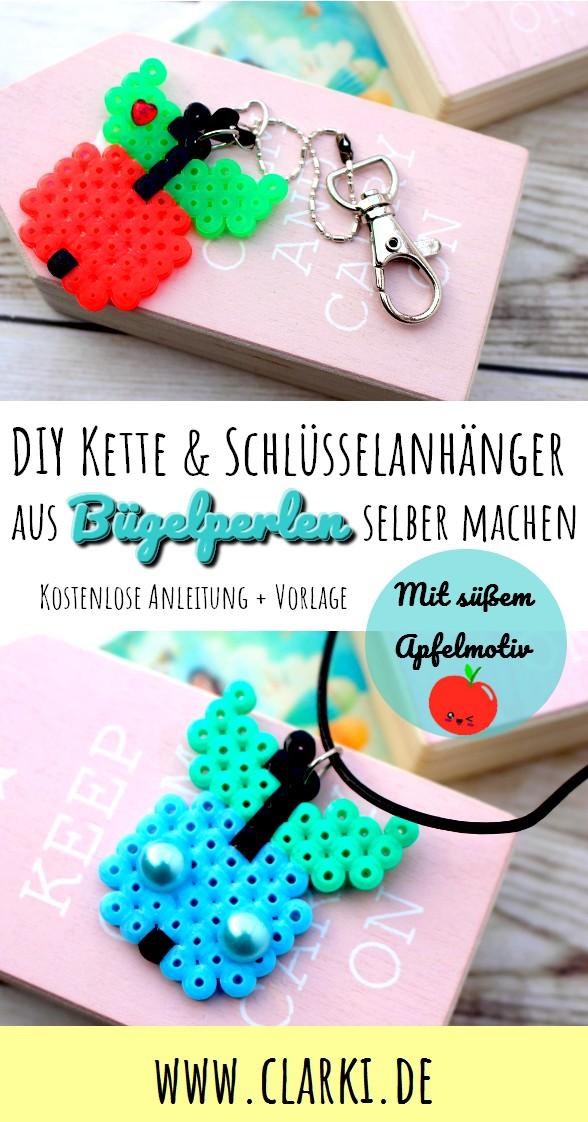 DIY-Schmuck: Äpfel aus Bügelperlen mit kostenloser Vorlage selber ...