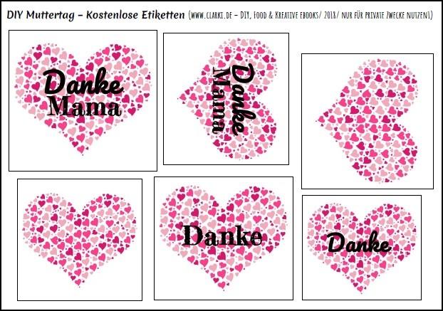 DIY Muttertag: Kostenlose Etiketten zum Downloaden und Ausdrucken ...