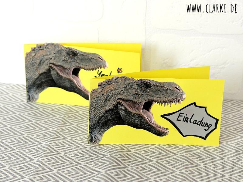 DIY Dino-Karte als Einladungs- oder Geburtstagskarte