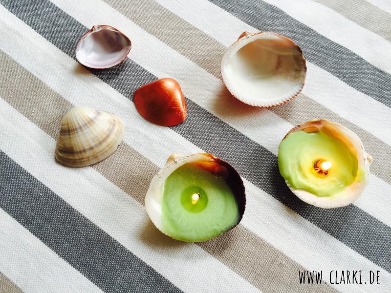 DIY Deko mit Muscheln: Teelichter und Kupfer-Muscheln selbermachen
