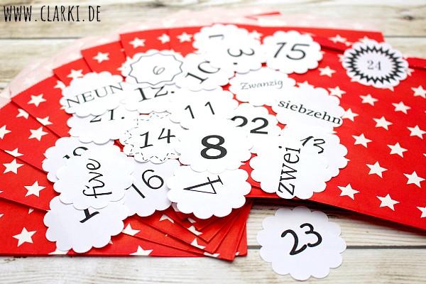 Kostenlose Zahlen für den Weihnachtskalender