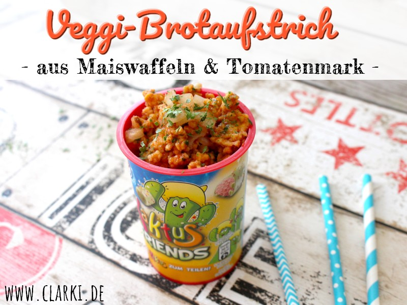 Rezept: Veggi-Brotaufstrich aus Maiswaffeln & Tomatenmark