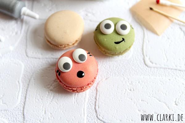 Macarons mit Gesicht
