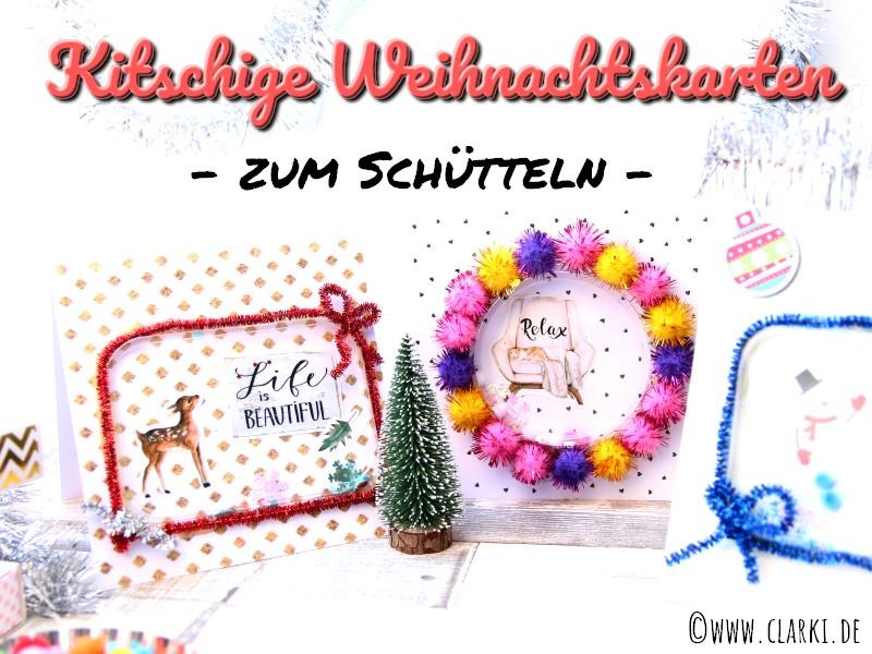 Weihnachtskarte basteln: Zum Schütteln und aus Papier