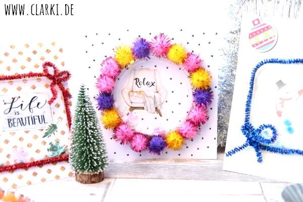 Kitschige Weihnachtskarten zum Schütteln – clarki.de – DIY, Food ...