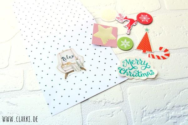 Weihnachtskarte zum Schütteln basteln