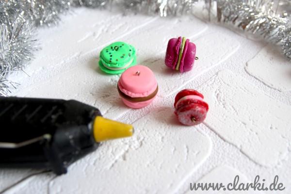 Weihnachtsbaumschmuck basteln: Süße Macaron Anhänger