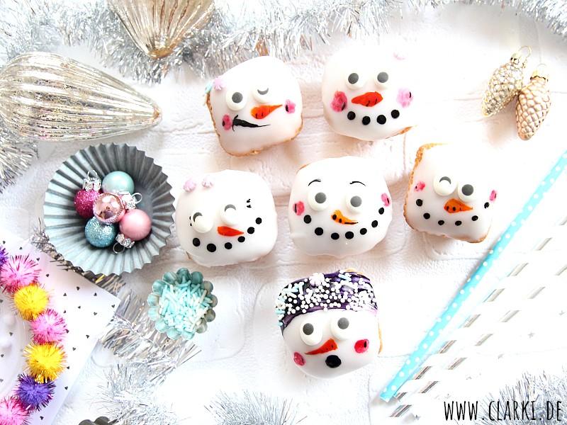 Muffin Rezept: Süße Schneemann-Gesichter zum Backen
