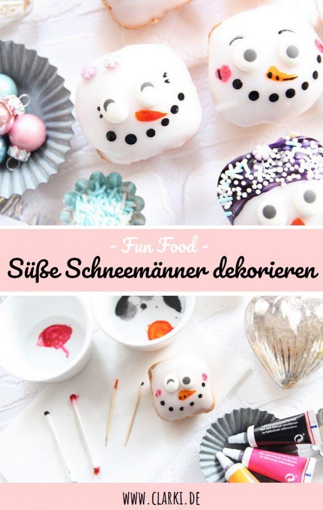 Schneemann Muffins zu Weihnachten und im Winter