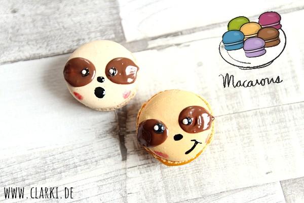 Fun Food: Faultier Macaron mit Gesicht