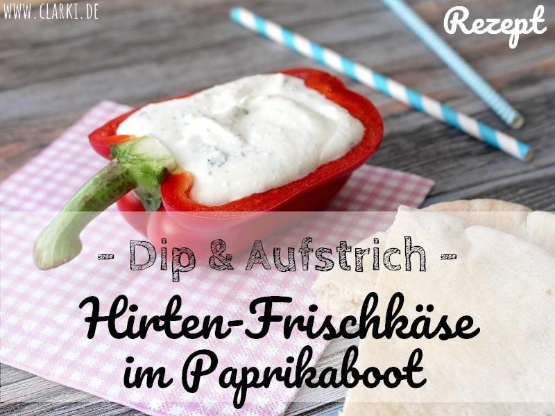 Aufstrich-Rezept: Hirten-Frischkäse im Paprikaboot