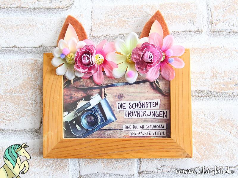 DIY: Pferde-Bilderrahmen mit süßen Ohren und Blumendeko