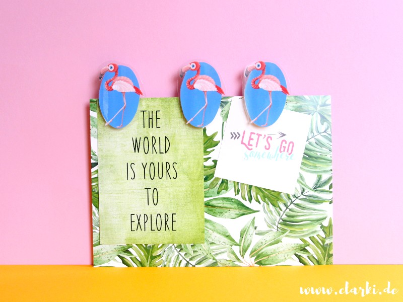DIY: Flamingo-Klammer-Freunde + Freebie