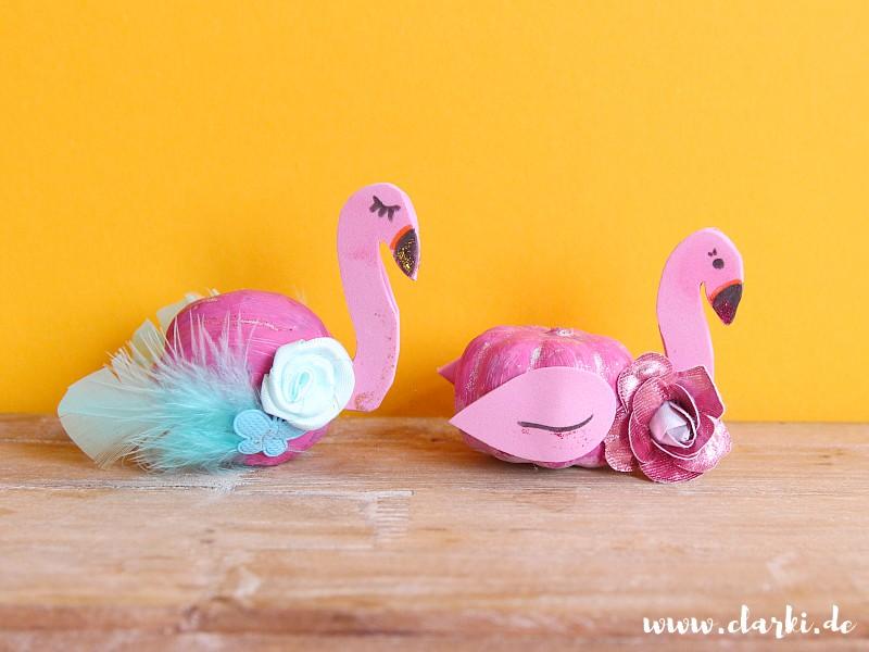 DIY: Süße Flamingo-Kürbis-Deko