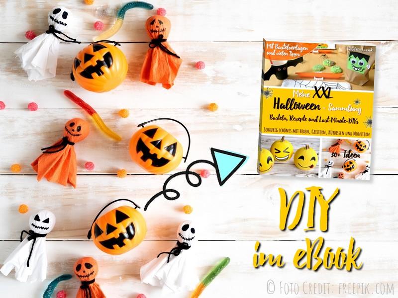 Halloween-DIY: Servietten-Geister