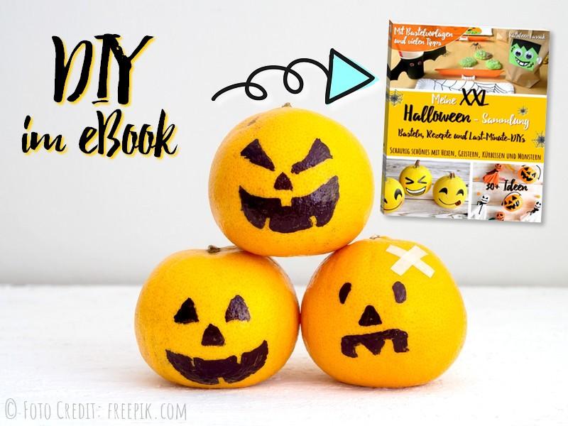 Halloween: Last-Minute-DIY: Kürbis Mandarinen
