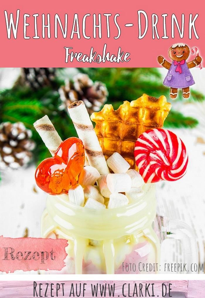 Rezept für Freak Shake zu Weihnachten