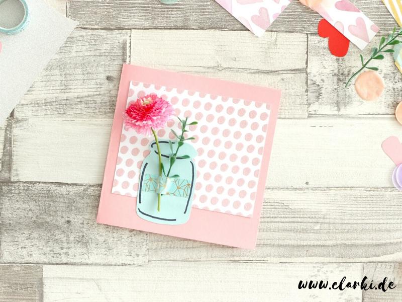 Muttertagskarte mit Blume basteln